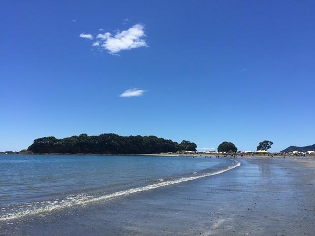 Strandutsikt i New Zealand
