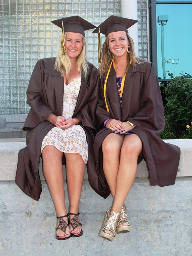 Sammen med min beste venn på graduation