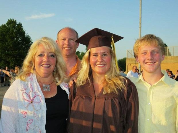 Min amerikanske vertsfamilie på graduation