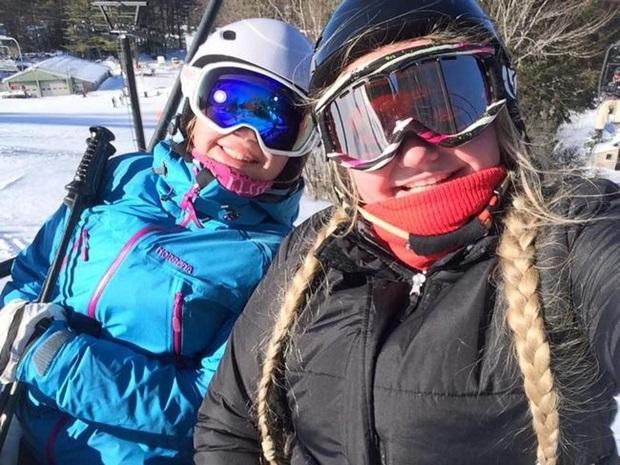 Utvekslingsstudenter i skiheis