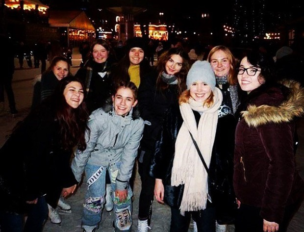 utvekslingsstudenter på skøyter i Oslo