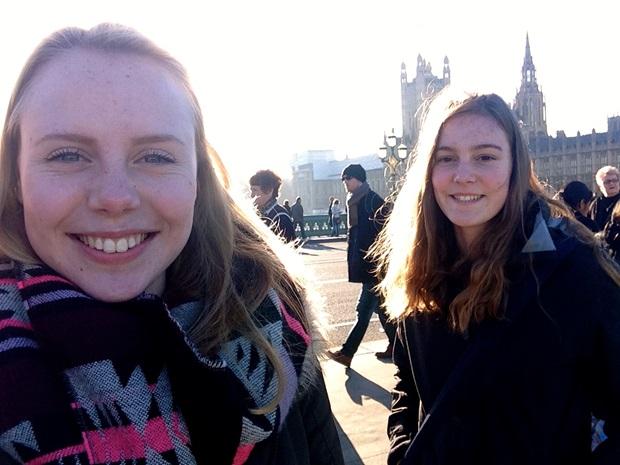 Utvekslingsstudenter på sightseeing