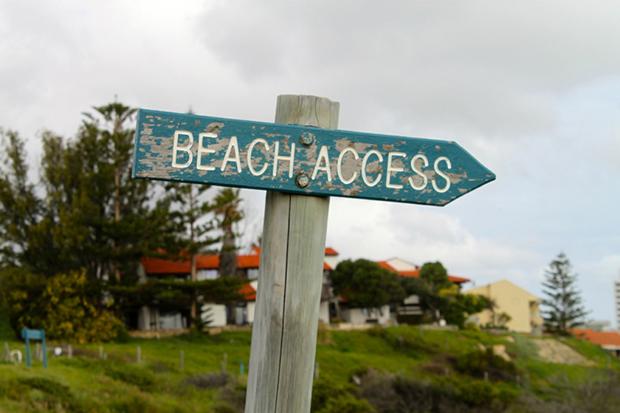 Beach Access skilt i Australia