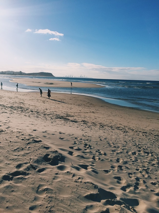 en lokal strand i Australia