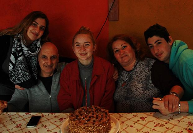 Norsk student med vertsfamilie i Argentina