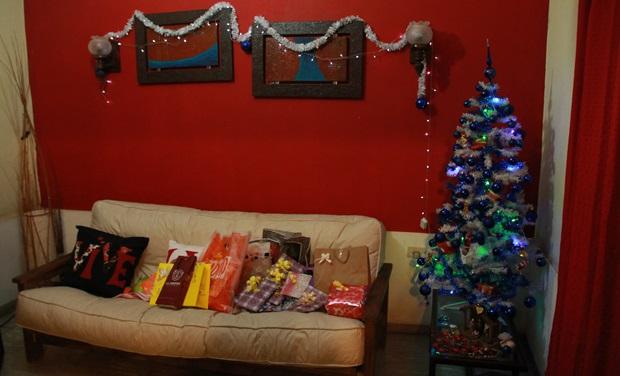 Julepyntet stue i Argentina