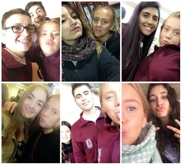 Utvekslingstudent med venner