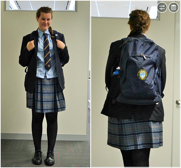 Norsk student i skoleuniform