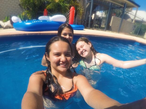 Utvekslingsstudenter og badeglede i Perth