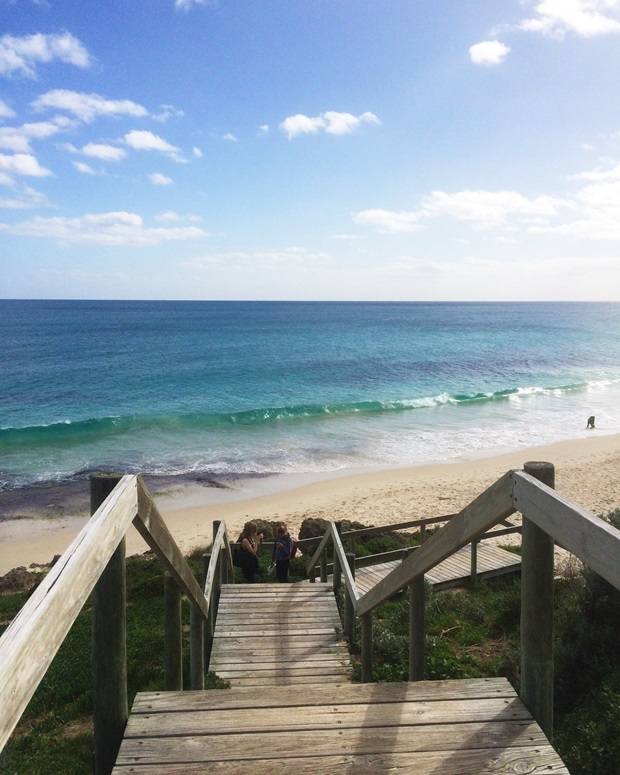 Nydelig strand i Perth