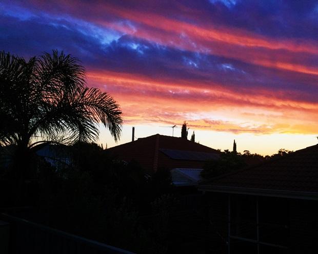 Nydelig kveldsutsikt over Perth