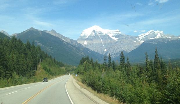 Det høyeste fjellet i Canadian Rockies, Mount Robson!