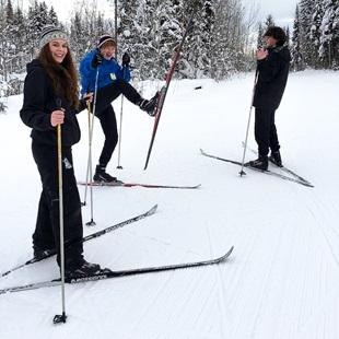 Utvekslingsstudenter på skitur i Canada