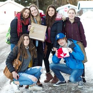 Herlig gjeng med utvekslingsstudenter på tur!