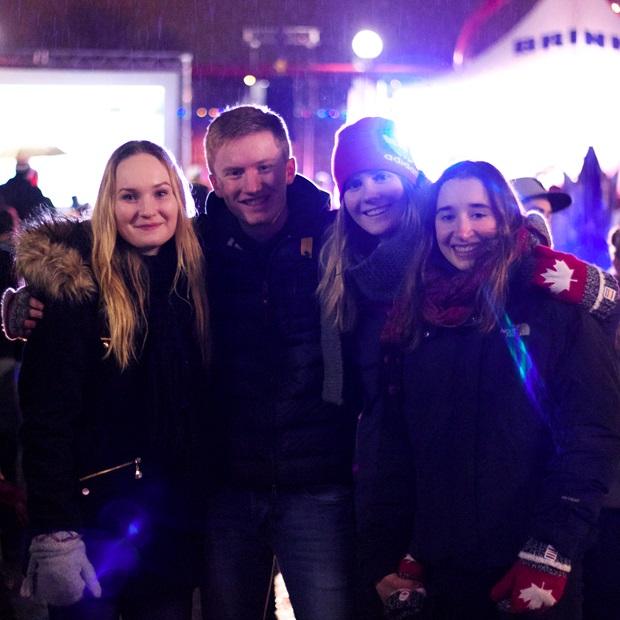 Karl med venner i Canada.
