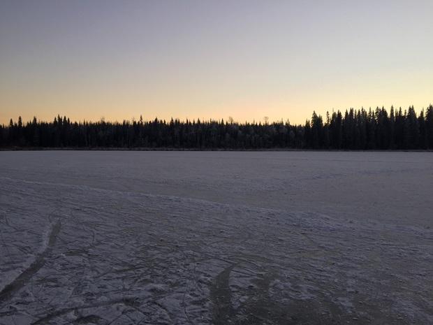 Utsikt over isen i Canada