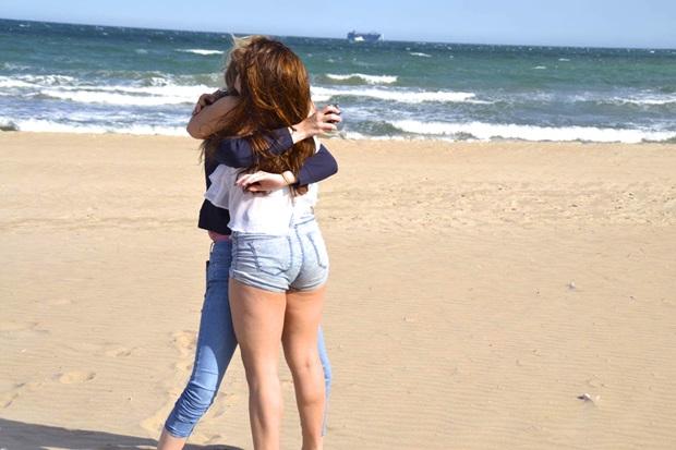 Venner på stranden