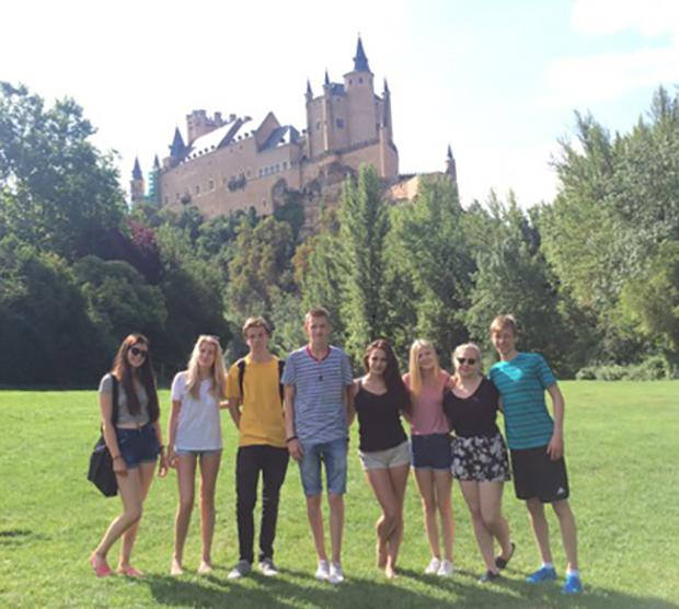 En gruppe utvekslingsstudenter i Madrid