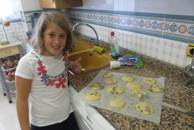 Baking hjemme hos vertsfamilien