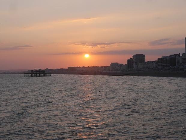 Solnedgang i Brighton