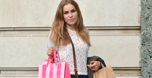 Utvekslingsstudent på shopping in London