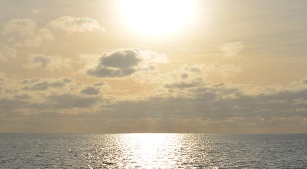 Solnedgang i England