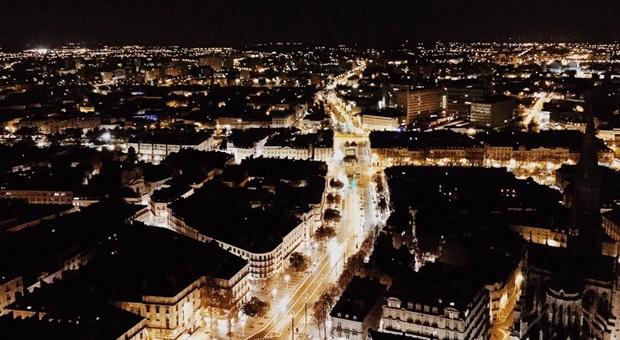 Kveldsutsikt over byen