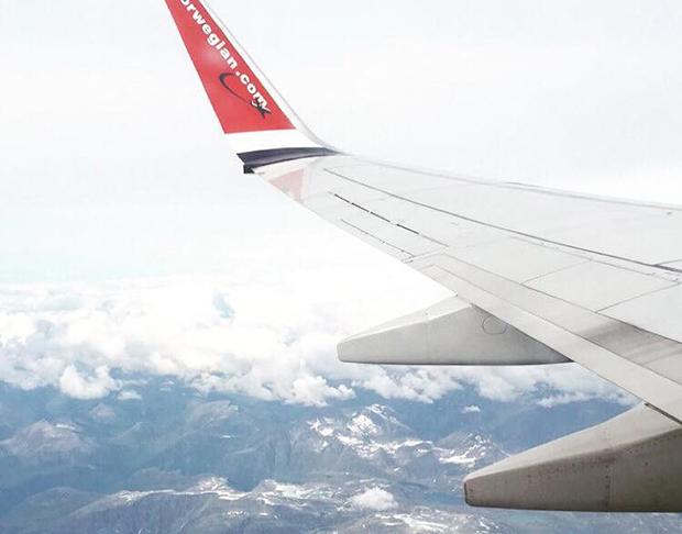 Flyturen over til England