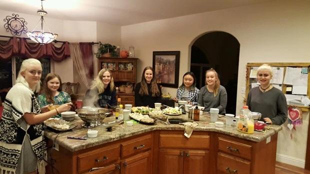 Thanksgiving med utvekslingsstudentene