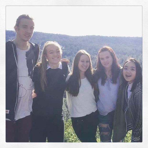 En gjeng med utvekslingsstudenter