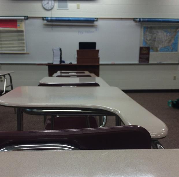 Klasserom på amerikansk high school