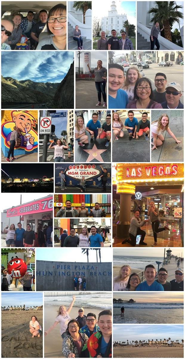 Collage fra en fantastisk ferie i USA!