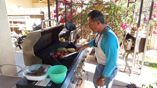 Matlaging med vertsfamilien
