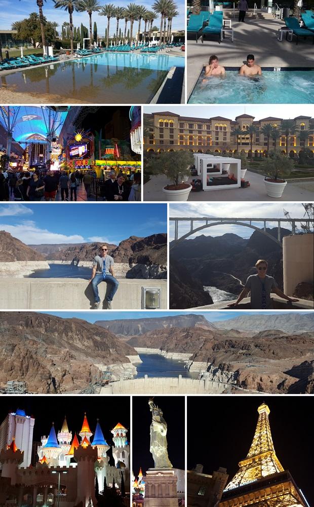 Collage av attenårsdagen i Las Vegas!