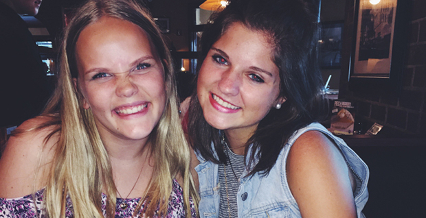 Norsk utvekslingsstudent med vertssøster