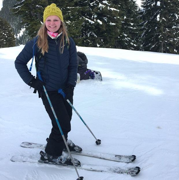 Utvekslingsstudent på ski