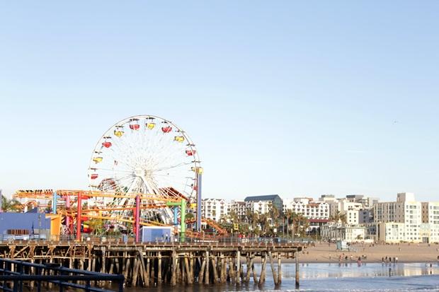 Julebesøk til Santa Monica Beach