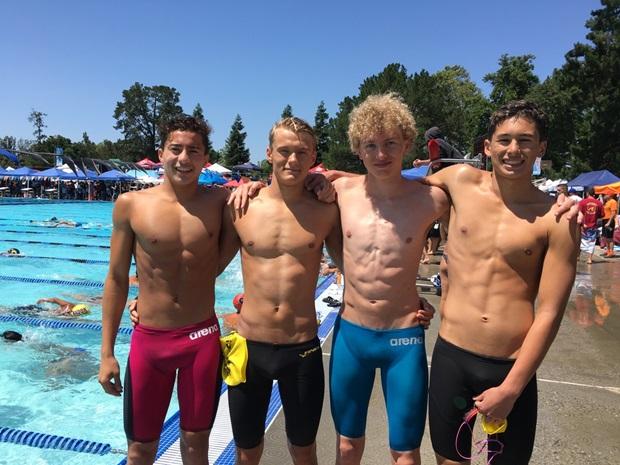 Gutta på svømmeteamet