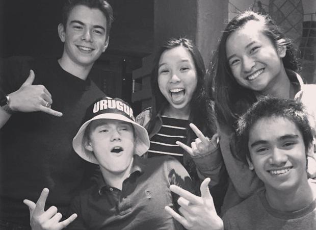 Utvekslingsstudent med venner