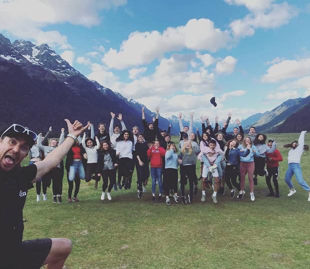 Gruppbild på Nya Zeeland