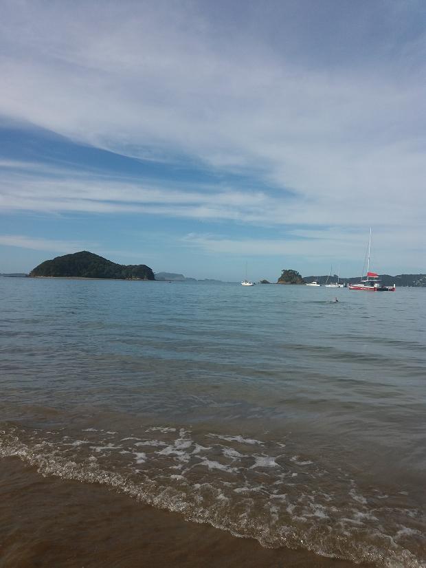 Strand på Nya Zeeland