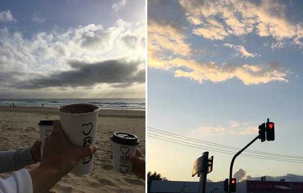 kaffe på stranden i Australien