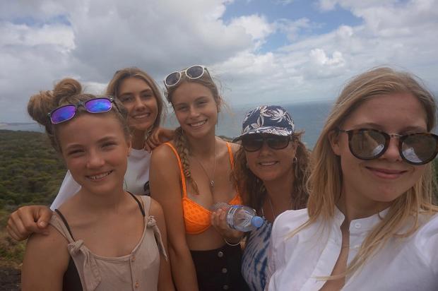 Glade utvekslingstudenter i Australia