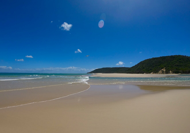 Vacker strand i Australien