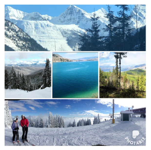 Bildkollage på bilder från Kanada