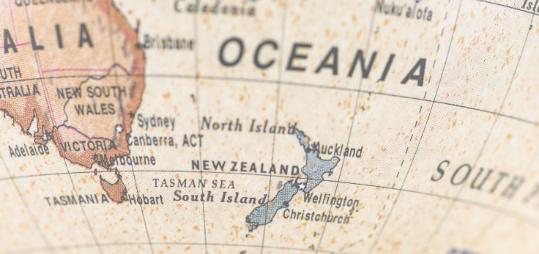 Die Landkarte Ozeaniens