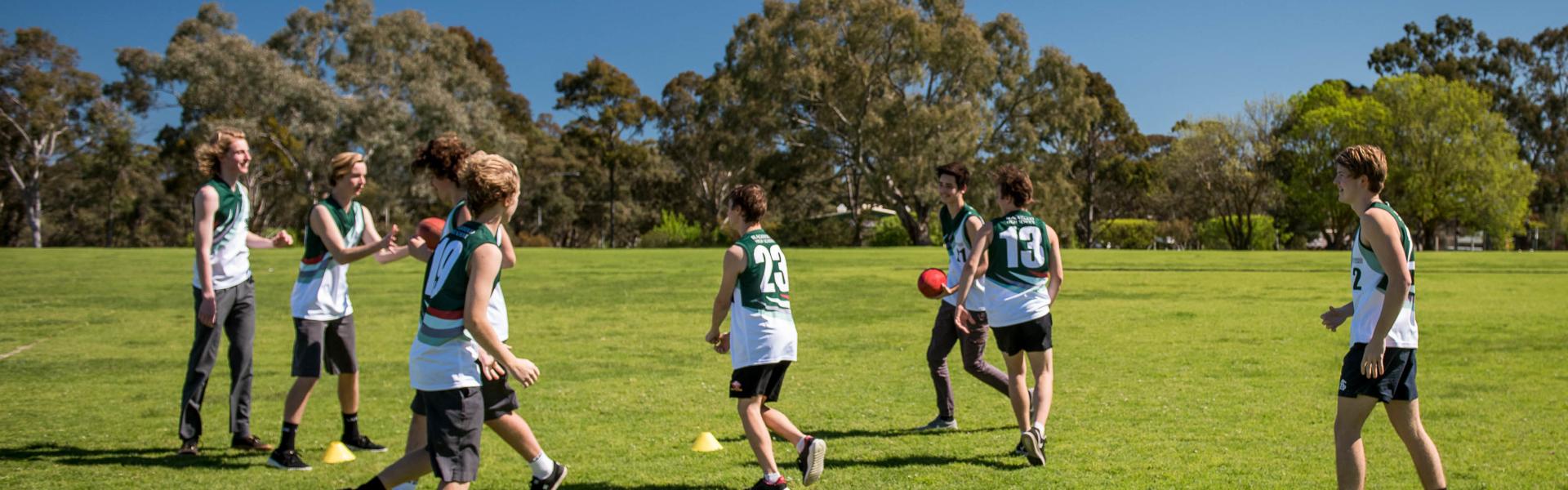 Blackwood High School Public South Australia Australia Students Playing Sports