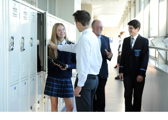 Unley High School Public South Australia Australia Students and Teacher in Hallway