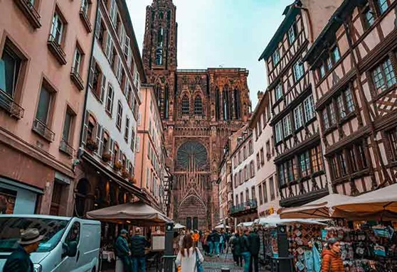 Church in the City of Strasbourg near Epinal in Lorraine, France