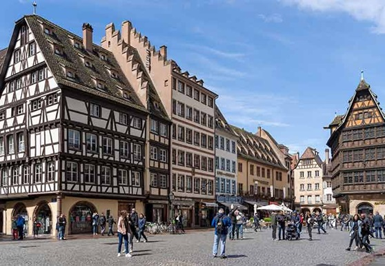 Downtown City of Strasbourg near Epinal in Lorraine, France